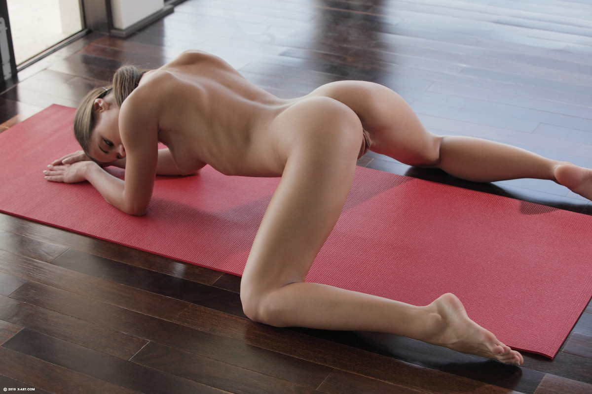Sexy yoga with Little Caprice